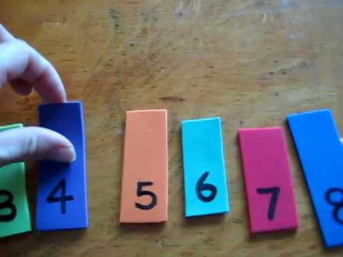 Toddler Math - number learning candle game