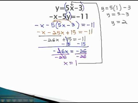 Systems of Equations - Substitute Expression - YouTube.mp4