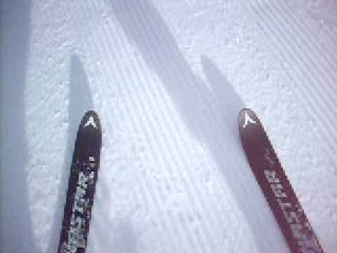 Skiing at Loveland, Colorado, singing The Twist