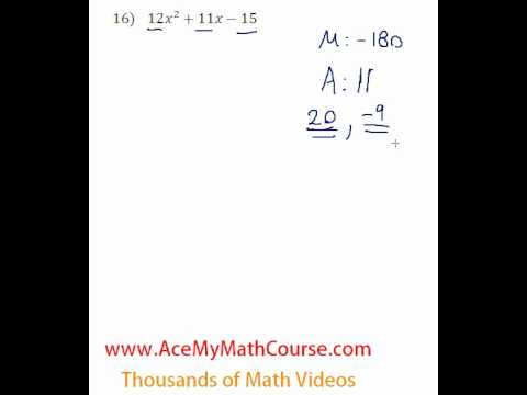 Polynomials - Factoring Trinomials (More Challenging) #16
