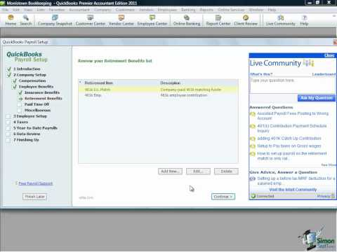 QuickBooks Tutorial -  Setting up Payroll in QuickBooks Pro 2011
