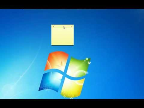 Windows 7 Tip - Sticky Notes