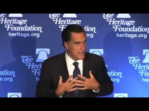 The Honorable Mitt Romneys Address on National Security and