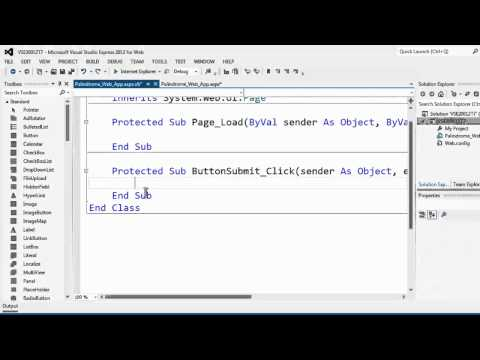 Visual Studio Express 2012 For Web Tutorial 7 Palindrome Web App