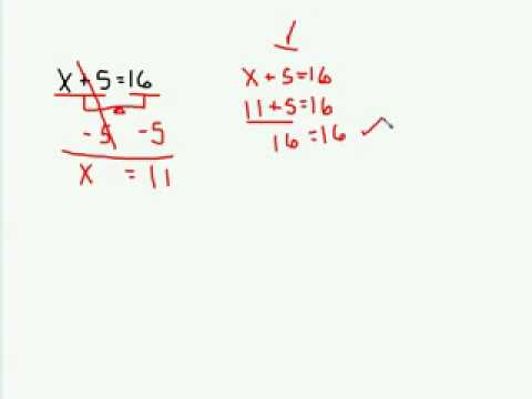 Solving SingleStep Equations  Add amp Subtract