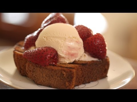Pound Cake w/ Roasted Strawberries: Make It (How To) || Kin Eats