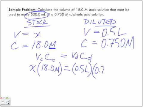 Preparing Solutions Sample Problem 2