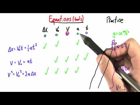 Picking the Right Tool - Intro to Physics - Motion - Udacity