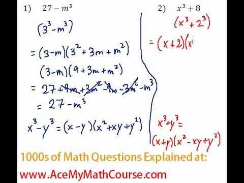 Polynomials - Factoring Two Cubes Question #2