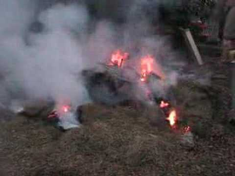 The 1st of April 2007 , A fire in the evening.