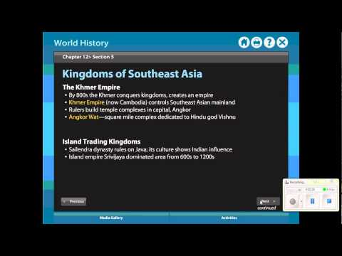 Review  Chapter 12 Section 5   Kingdoms of Southeast Asia & Korea