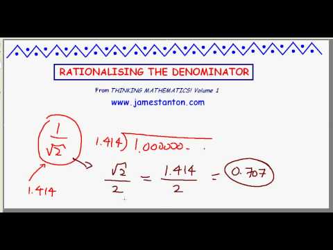 "The Truth About ""Rationalizing the Denominator"" (TANTON Mathematics)"