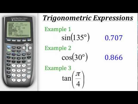 TI Calculator Tutorial: Trig Expressions