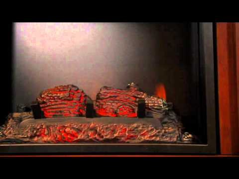 Twin Star International's Cherry Mahogany Fireplace Set