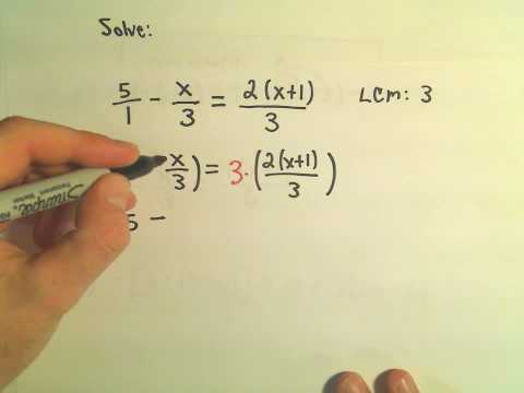 Solving a Basic Linear Equation - Example 2