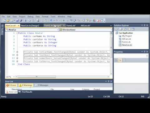 Visual Basic Tutorial - 118 - Car Part 13   Adding Cars With AddCar