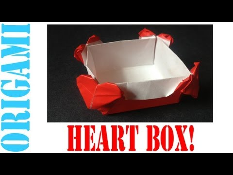 Origami Daily - 019: Valentines Day Heart Box - TCGames [HD]