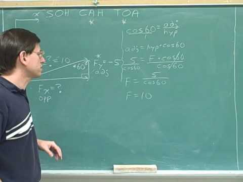 Physics: Vector components (59)