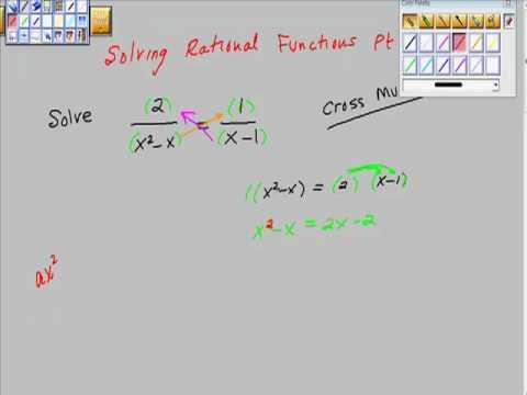 Solving Rational Functions Pt III Algebra