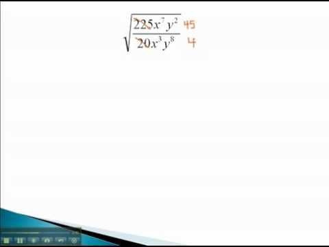 Rationalize Denominators - Quotient Rule