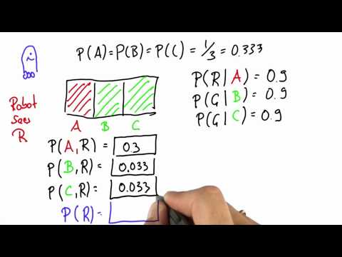 Robot Sensing 7 - Intro to Statistics - Bayes Rule - Udacity
