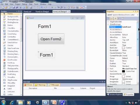 Visual Basic 2010 Express Tutorial 15 Multiple Window Forms