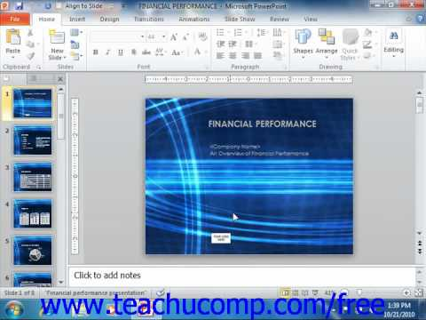 PowerPoint 2010 Tutorial Saving Presentations 2010 Only Microsoft Training Lesson 2.6