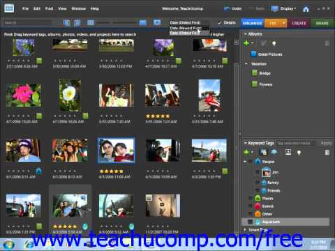 Photoshop Elements 9.0 Tutorial Sorting Images Adobe Training Lesson 2.18
