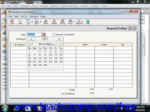 Peachtree Tutorial Accumulated Depreciation Sage Training Lesson 18.5