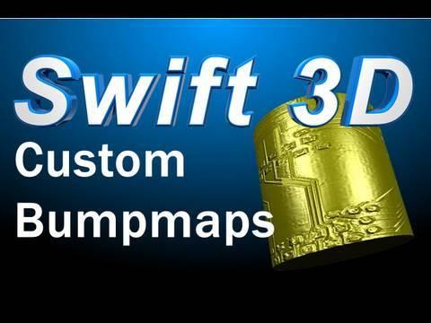 Swift 3D Tutorial : Custom Bumpmap Textures and Materials