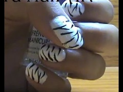 ♥ Easy Wild Zebra (Animal Print) Nail Art Tutorial ♥ ( • ◡ • )