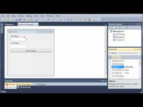 Visual Basic Tutorial - 103 - Accessing Classes in Namespaces