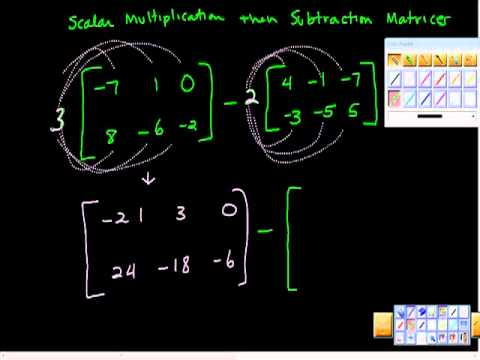 Scalar Multiplication then Subtraction of Matrices