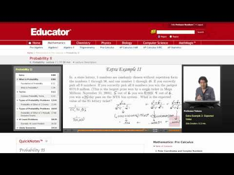 Pre-Calculus: Expected Value (Probability)