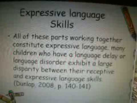 Receptive and Expressive Language Skills