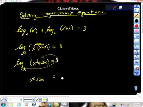Solving Logarithmic Equations Properties of Logs
