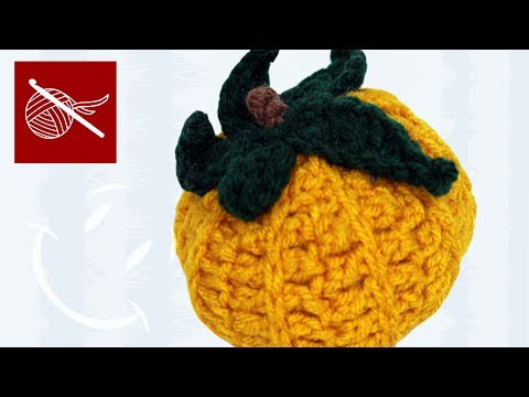 Small Crochet  Halloween Fall Pumpkin