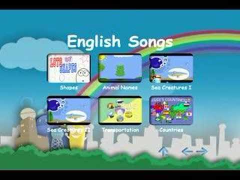 "The ""English Songs"" DVD Menu"