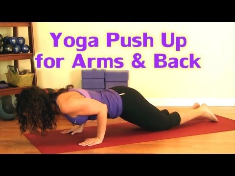 Yoga Push Up for Arms, Back & Upper Body Strength, Pushup Workout | Lori Austin