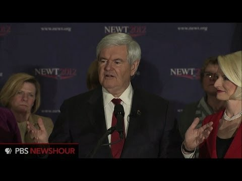 Watch Newt Gingrich's New Hampshire Primary Speech