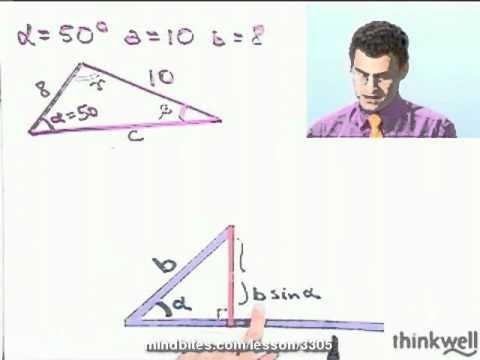 Trigonometry: Solving a Triangle (SAS): Example