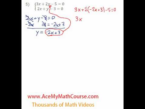 Systems - Solving by Substitution #5
