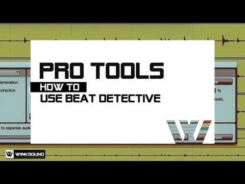 Pro Tools: How To Edit Track Groups Using Beat Detective | WinkSound