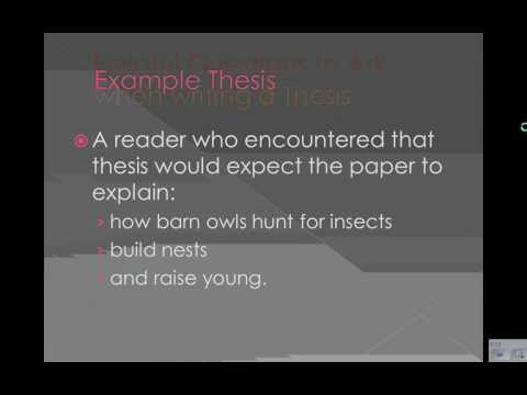 Thesis Explained