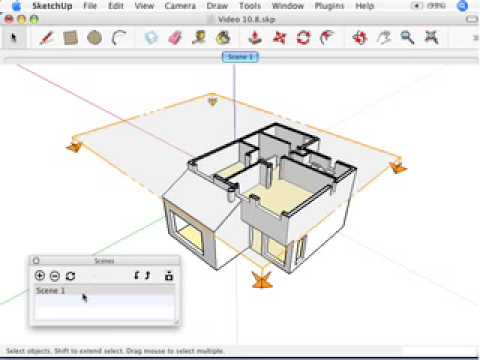 SketchUp: Creating section animations with scenes