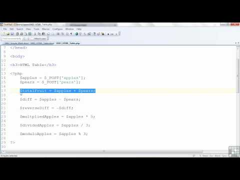 PHP / MySQL Tutorial | Creating HTML Tables with PHP | InfiniteSkills