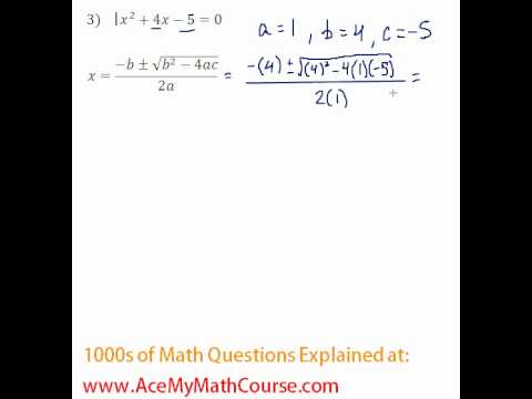 Quadratic Formula #3