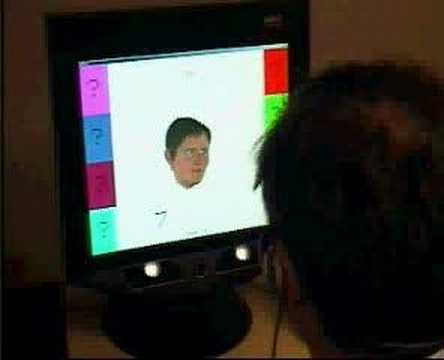 Virtual human uses its eyes like you do