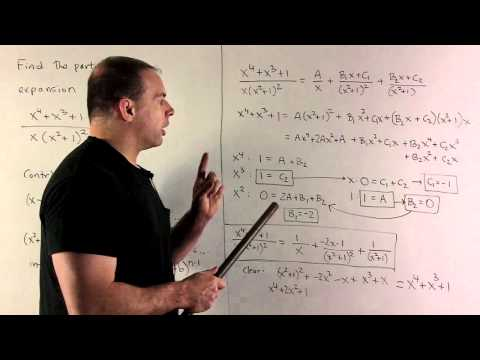 Partial Fraction Expansion of  (x^4+x^3+1)/(x(x^2+1)^2)