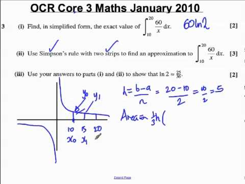 Q3) (ii) Core 3 OCR Maths January 2010.mp4